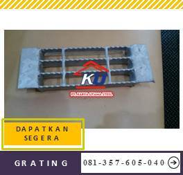 Steel Grating Murah Ukuran 90cm Lebar Dan Panjang 600cm Galvanis Hotdeep Ready Stock Open End